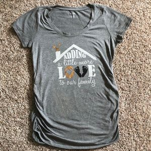 Motherhood maternity gray tee